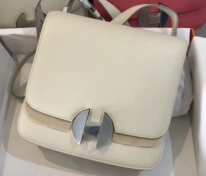 IMG 90318a 15 cr - Hermes 2002 - 26 Bag In Evercolor Calfskin With Adjustable Strap