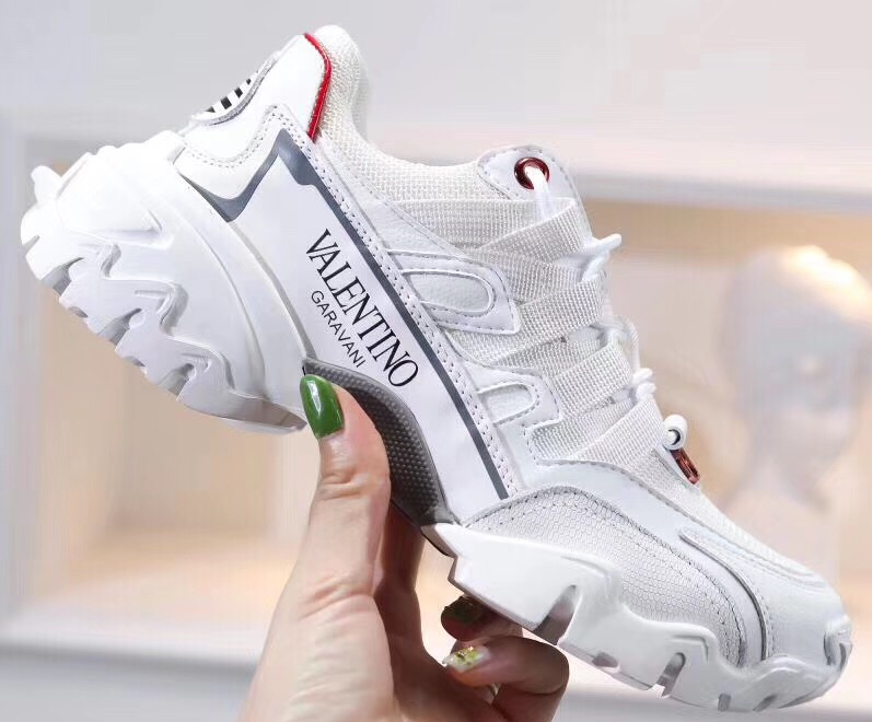 IMG 90712s 295 cr - Valentino Fabric and Leather Climbers Lovers Sneakers 2019
