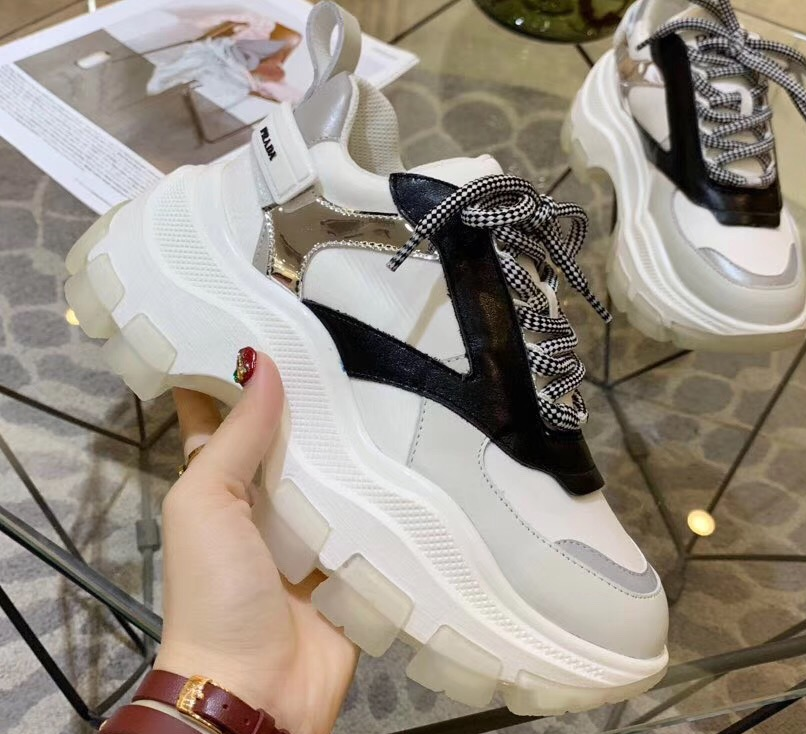 IMG 90728a 319 cr - Prada Leather Block Sneakers 2019