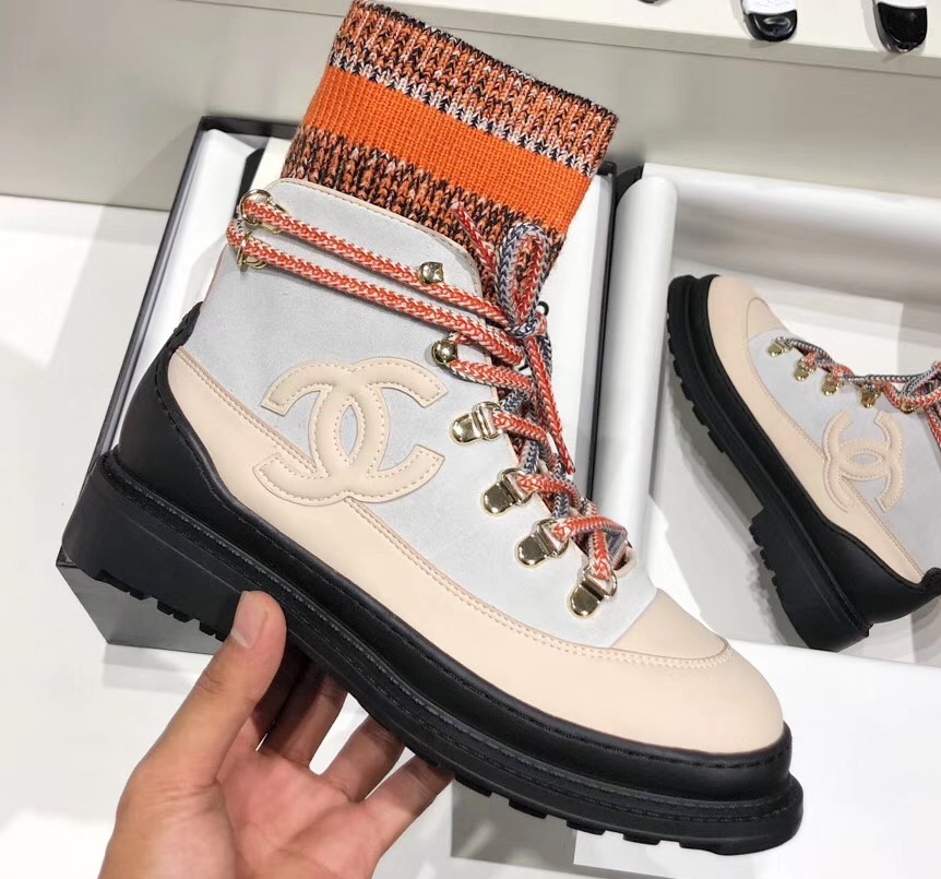 IMG 91008a 115 cr - Chanel Calfskin and Mixed Fibers Lace-Ups Sneakers G35375 2019