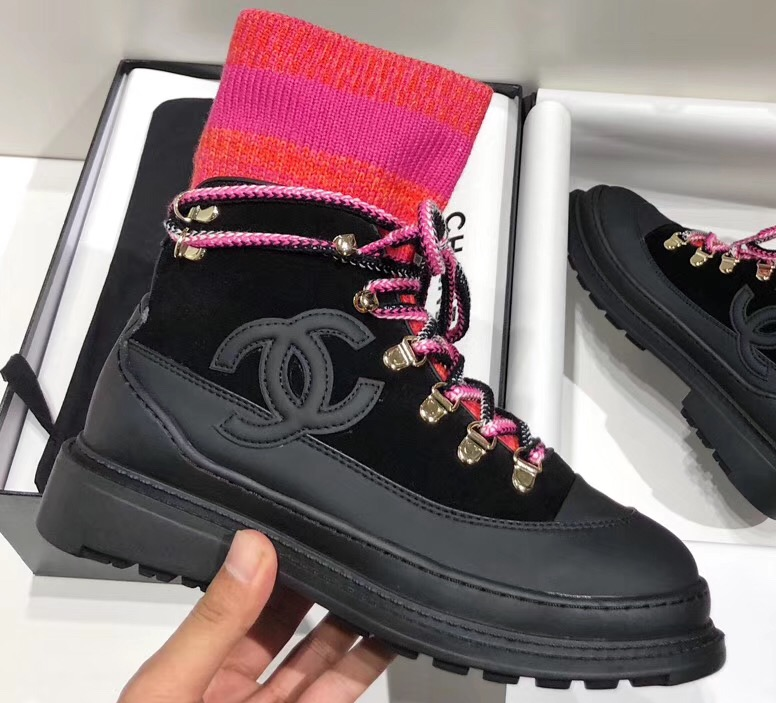 IMG 91008a 91 cr - Chanel Calfskin and Mixed Fibers Lace-Ups Sneakers G35375 2019