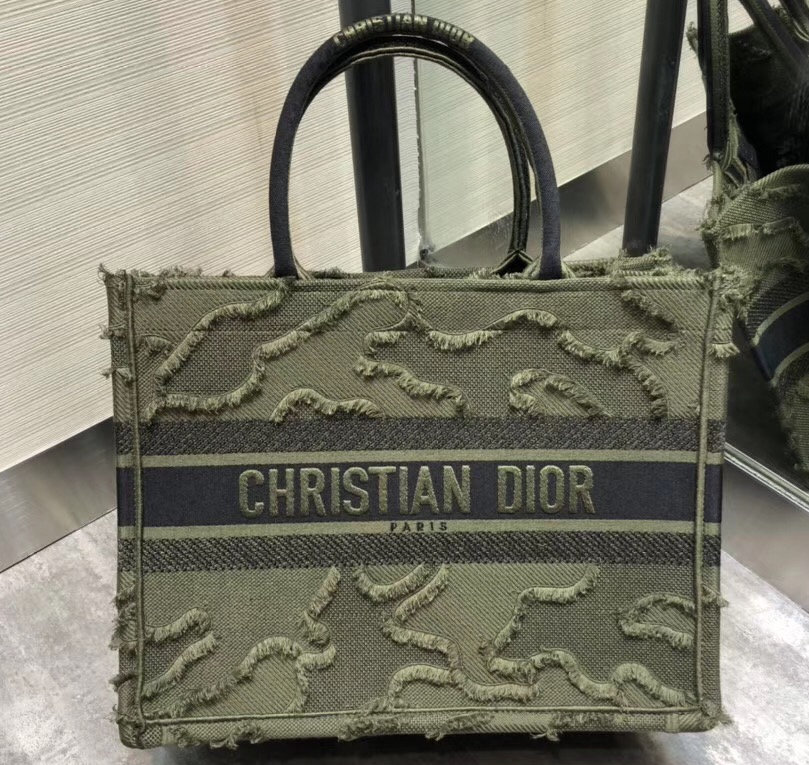 IMG 200102 404 cr - Dior Book Tote Bag in Camouflage Embroidered Canvas 2020
