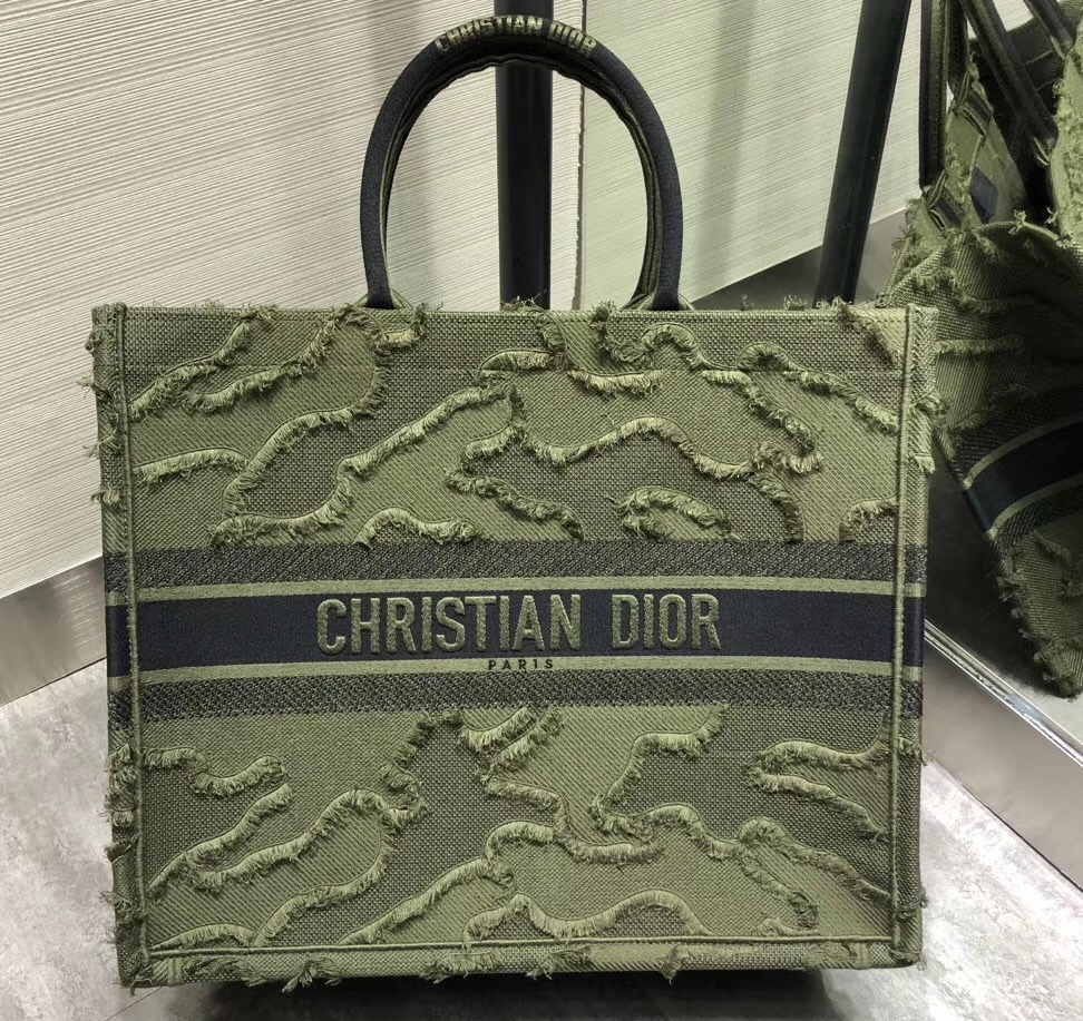 IMG 200102 442 cr - Dior Book Tote Bag in Camouflage Embroidered Canvas 2020