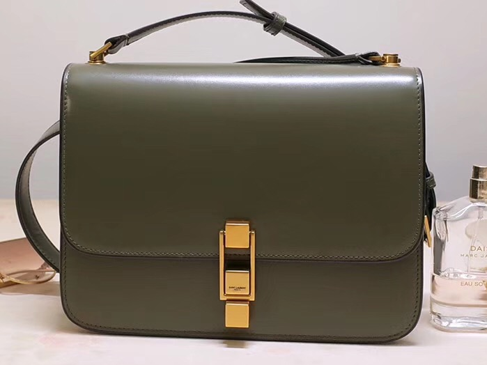 IMG 200110a 11 cr - Saint Laurent Carre Satchel Bag In Smooth Leather 585060