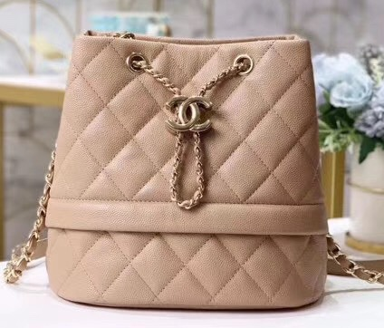IMG 200203a 70 cr - Chanel Caviar Leather Quilted Rolled Up Drawstring Bucket Bag
