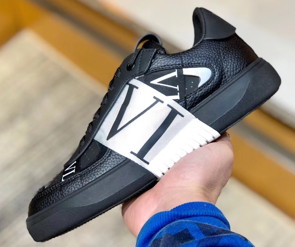IMG 200324a 268 cr - Valentino Calfskin VL7N Sneakers with Bands 2020