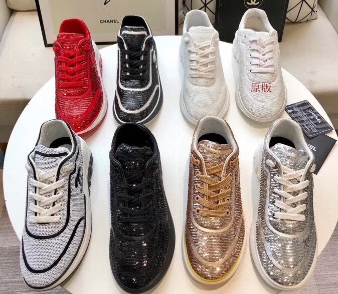 IMG 200324a 33 cr - Chanel CC Logo Sequins Sneakers G35936 2020