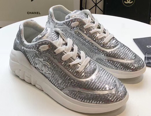 IMG 200324a 76 cr - Chanel CC Logo Sequins Sneakers G35936 2020