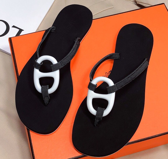 IMG 200603h 86 cr - Hermes Kala Nera Chaine D'ancre Flip Flops Thongs Sandals