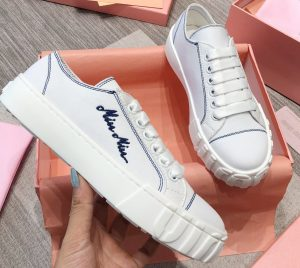 IMG 200716a 454 crr 300x268 - Miu Miu Embroidered Logo Cotton Gabardine Sneakers 2020