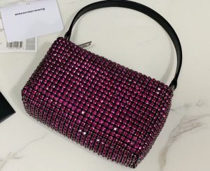 IMG 200729a 304 ccr 300x245 - Alexander Wang Wangloc Medium Pouch Bag With Crystal Rhinestone Chain Mesh