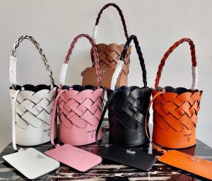 IMG 200731a 14 cr 300x256 - Prada Leather Tress Bucket Bag with Woven Motif 1BE049 2020