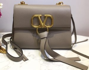 IMG 201014vv 34 cr 300x237 - Valentino Grained Calfskin Small VRing Shoulder Bag with Two Shoulder Strap 2020
